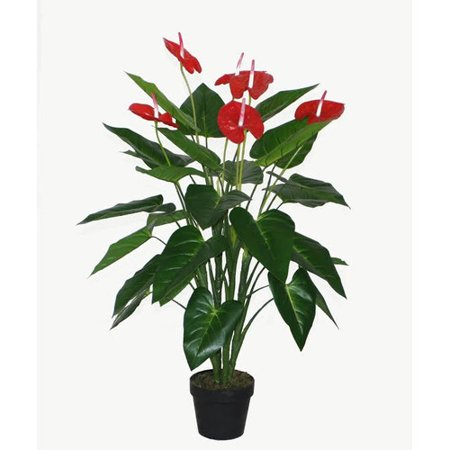 Tropical Plates (Northlight Seasonal Decorative Artificial Tropical Anthurium Floor Plant in)