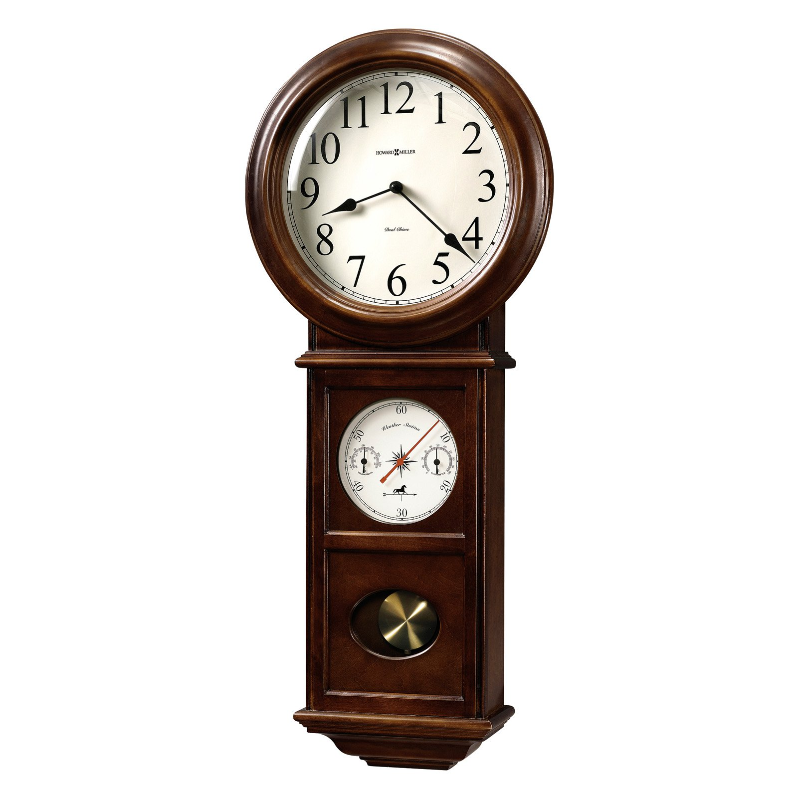Howard Miller 625-399 Crowley Wall Clock 14-in. Wide by Howard Miller