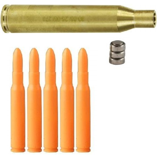Ultimate Arms Gear .30-06 Springfield Caliber Ammo Rifle Cartridge Laser Bore Sighter Boresight Boresighter + Pack Of 5 Inert .30-06 Springfield Safety Trainer Dummy Ammunition Ammo Rifle Rounds