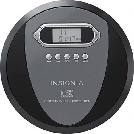 insignia ns-p4112 portable cd player with skip protection for cd, cd-r, cd-rw - includes