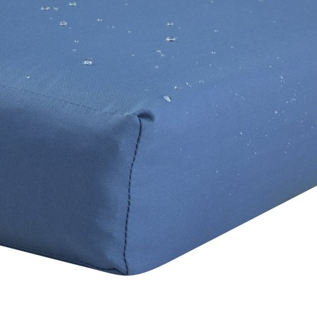 "Classic Accessories Ravenna Patio Bench/Settee Cushion Slip Cover - Durable Outdoor Cushion, Empire Blue, 48""L x 18""W x 3""Thick - image 1 of 2"