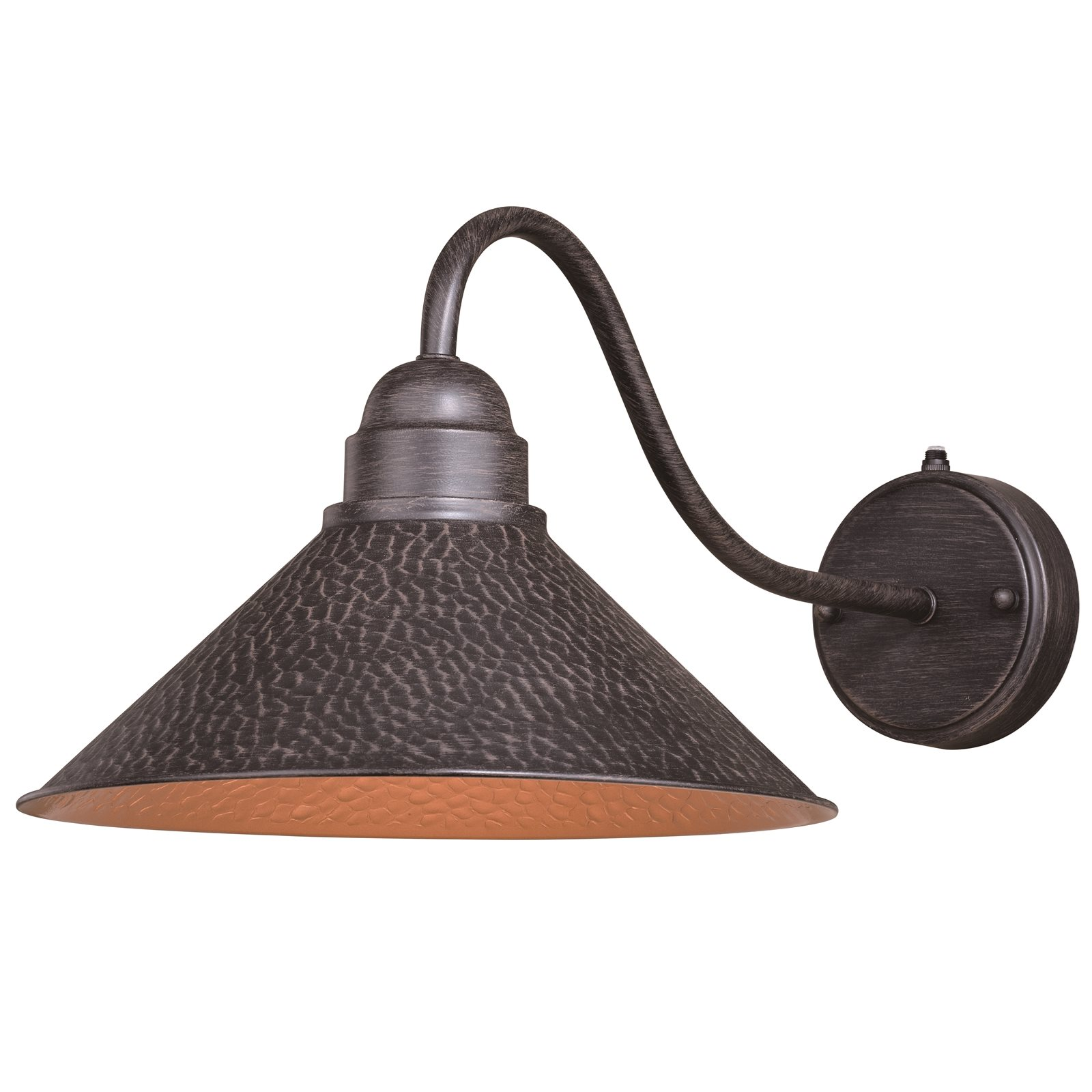 Vaxcel T0351 Outland Outer Aged Iron with Inner Light Gold Outdoor Wall