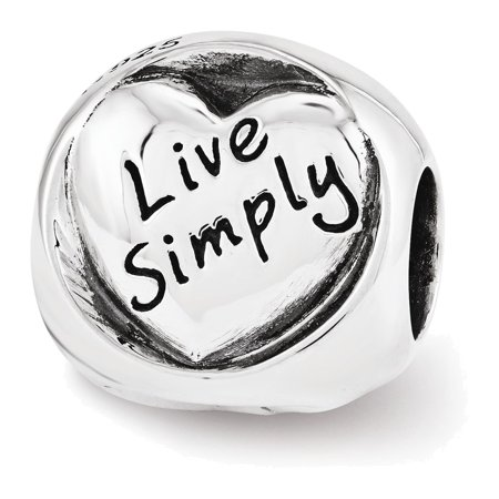 Sterling Silver Reflections Live Simply Trilogy Bead