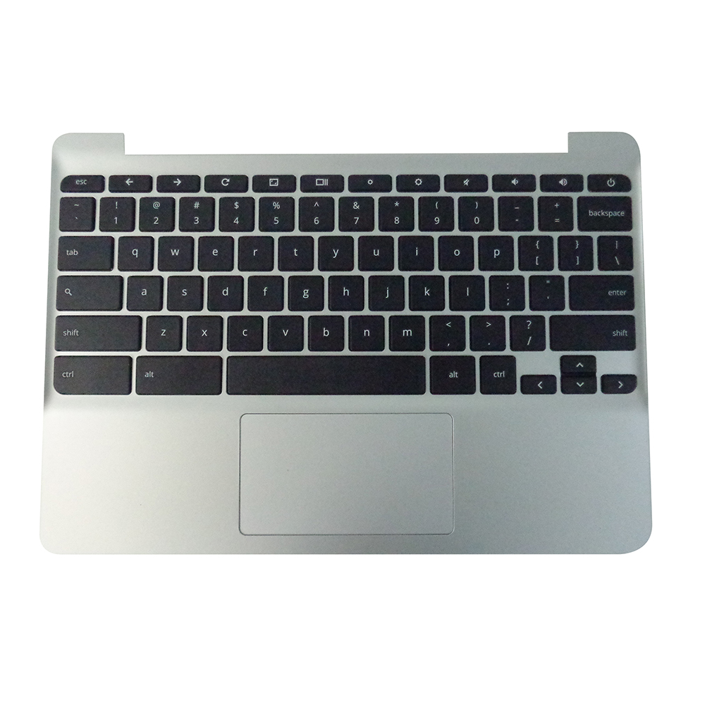 Genuine HP Chromebook 11 G5, Chromebook 11-V Silver Palmrest Keyboard & Touchpad 900818-001