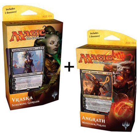 RIVALS OF IXALAN Both Decks Box MTG Magic The Gathering Boosters Angrath