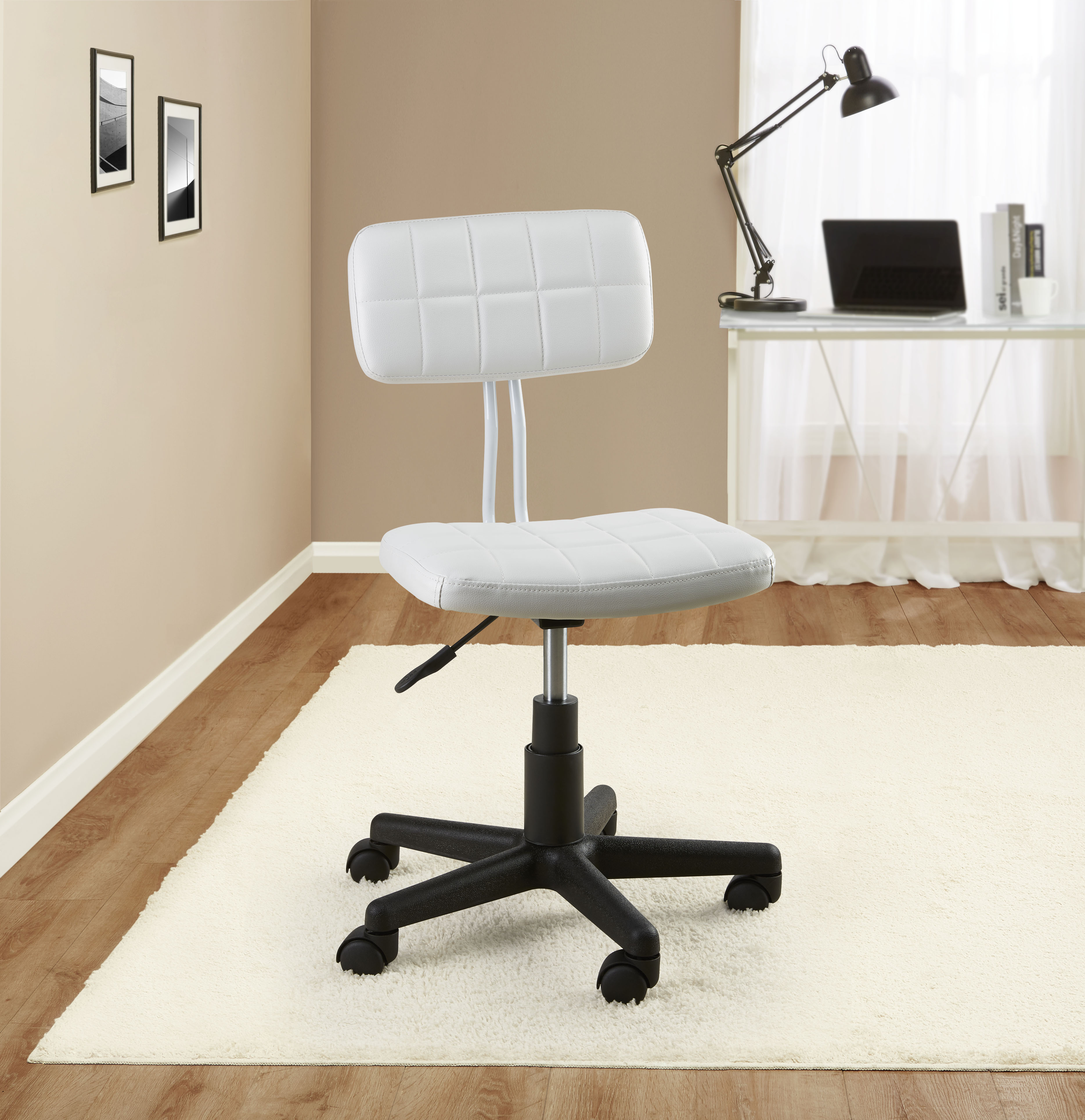 Mainstays Student Faux Leather Office Rolling Chair. Product Variants  Selector. White