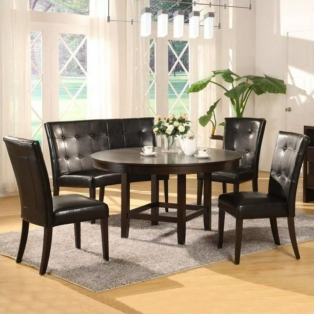 Modus Bossa 5 Piece 54 Inch Round Dining Table Set Walmart Com Walmart Com