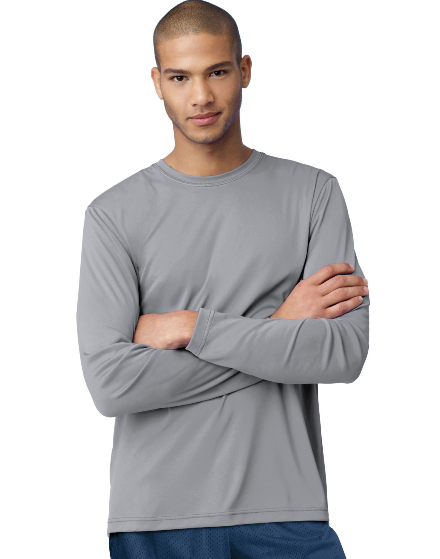 Hanes Cool Dri Performance Men S Long Sleeve T Shirt Best Er White