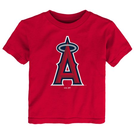 Los Angeles Angels Toddler Primary Logo T-Shirt - Red