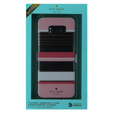 premium selection fa9cf f44ad Kate Spade NY Hybrid Case for Samsung Galaxy S8+ (S8 Plus) - Clear- Pink  Stripes