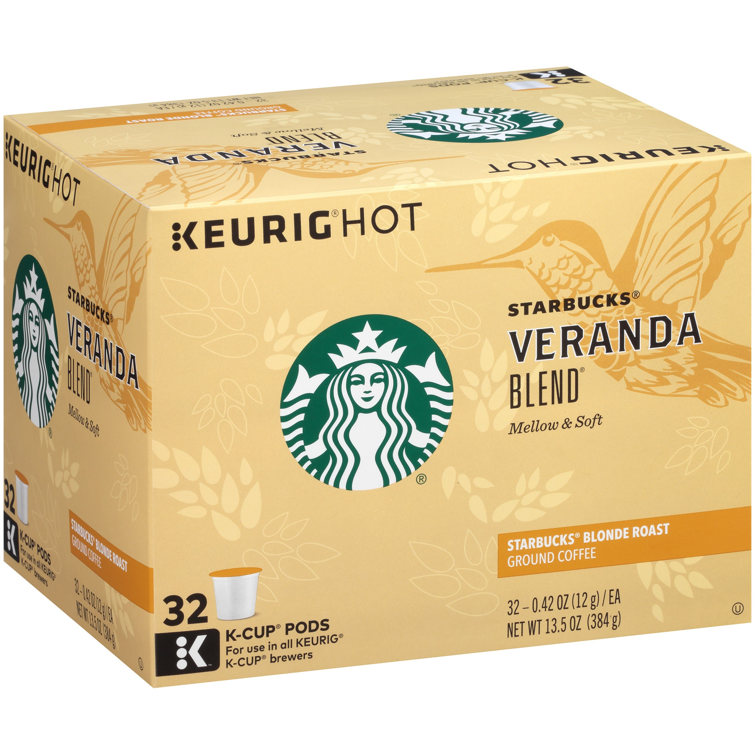 Starbucks® Veranda Blend Blonde Roast Ground Coffee K-Cups 32 ct Box