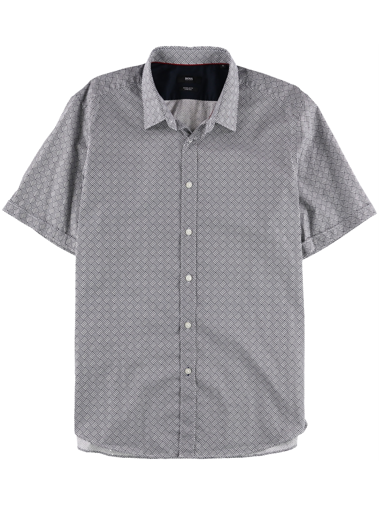 3974b23c9828 HUGO BOSS - Hugo Boss Mens Geometric Button Up Shirt 410 XL ...