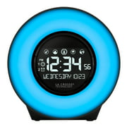 La Crosse Technology C83117 Color Mood Light Desk Clock with 5 Soothing Nature Sounds and USB port