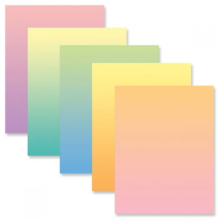 Ombre Easter Letter Papers (5 Colors) - Set of 25 spring stationery papers are 8 1/2