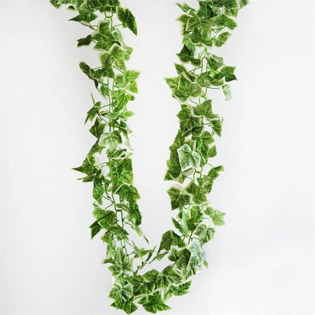 (BalsaCircle Green 8 feet Variegated English Ivy Silk Garland - Wedding Party Centerpieces Arrangements Home Decorations)