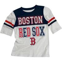 MLB Boston Red Sox Girls Short Sleeve White Graphic Tee