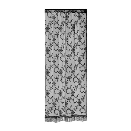 Heritage Lace Yorkshire Graphic Print & Text Sheer Rod pocket Single Curtain Panel