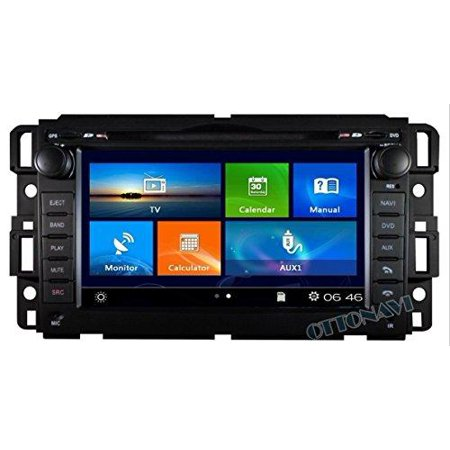 gmc sierra 2007-2013 k-series in dash bluetooth am/fm radio gps navigation touchscreen dvd mp3 mp4 multimedia system - his unit will fit: gmc 07-13 sierra gmc 07-12 acadia gmc 07-11 yukon chevy 07-12 (2018 Chevy Touch Screen)
