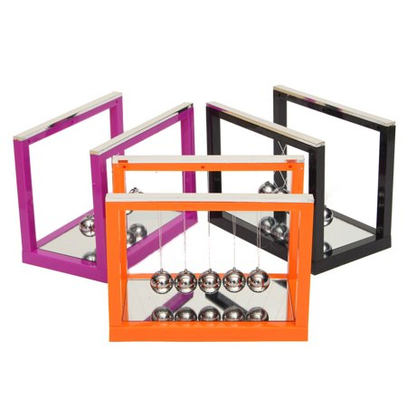 Grtsunsea Newton's Smart Cradle Steel Balance Ball Physics Science Pendulum Desktop Home Decoration Toy Crafts Gifts with - Steel Pendulum