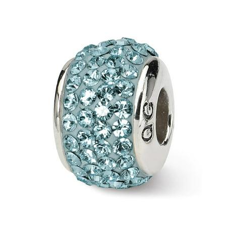 Sterling Silver with Swarovski Crystals December Birthstone Bead Charm