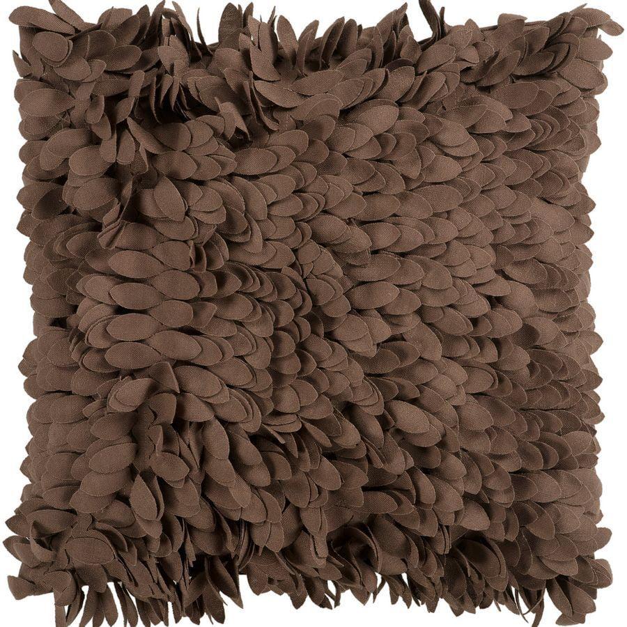 Surya Petals Decorative Pillow - Brown