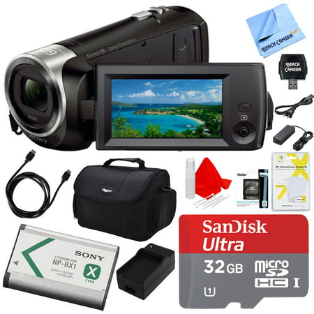 Sony HDRCX405 HDR-CX405 CX405 Video Recording Handycam Camcorder Bundle With Deluxe Bag, 32GB MicroSDHC Memory Card, AC/DC Charger, HDMI Cable, Battery Pack, and More ()