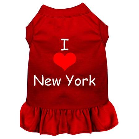 I Heart New York Screen Print Dress Red Med 12