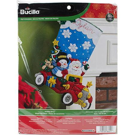 Holiday Drive Stocking Felt Applique Kit, 18