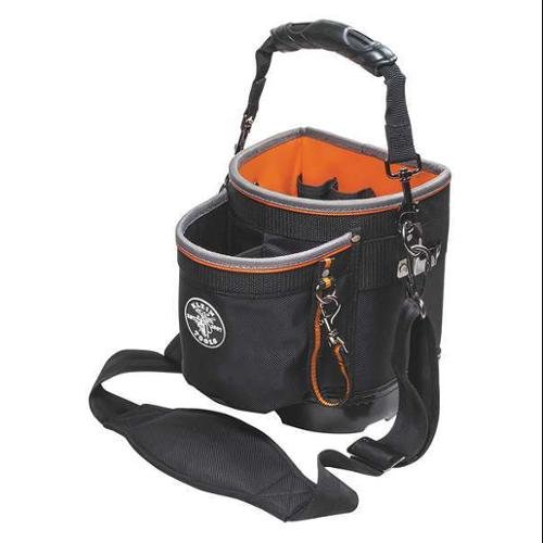 Klein Tools Tool Bag, Polyester, Black/Orange, 55419SP14