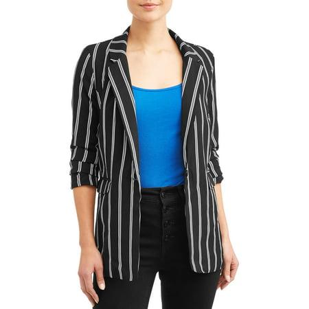 Cotton Striped Blazer (Juniors' Stripe Blazer)
