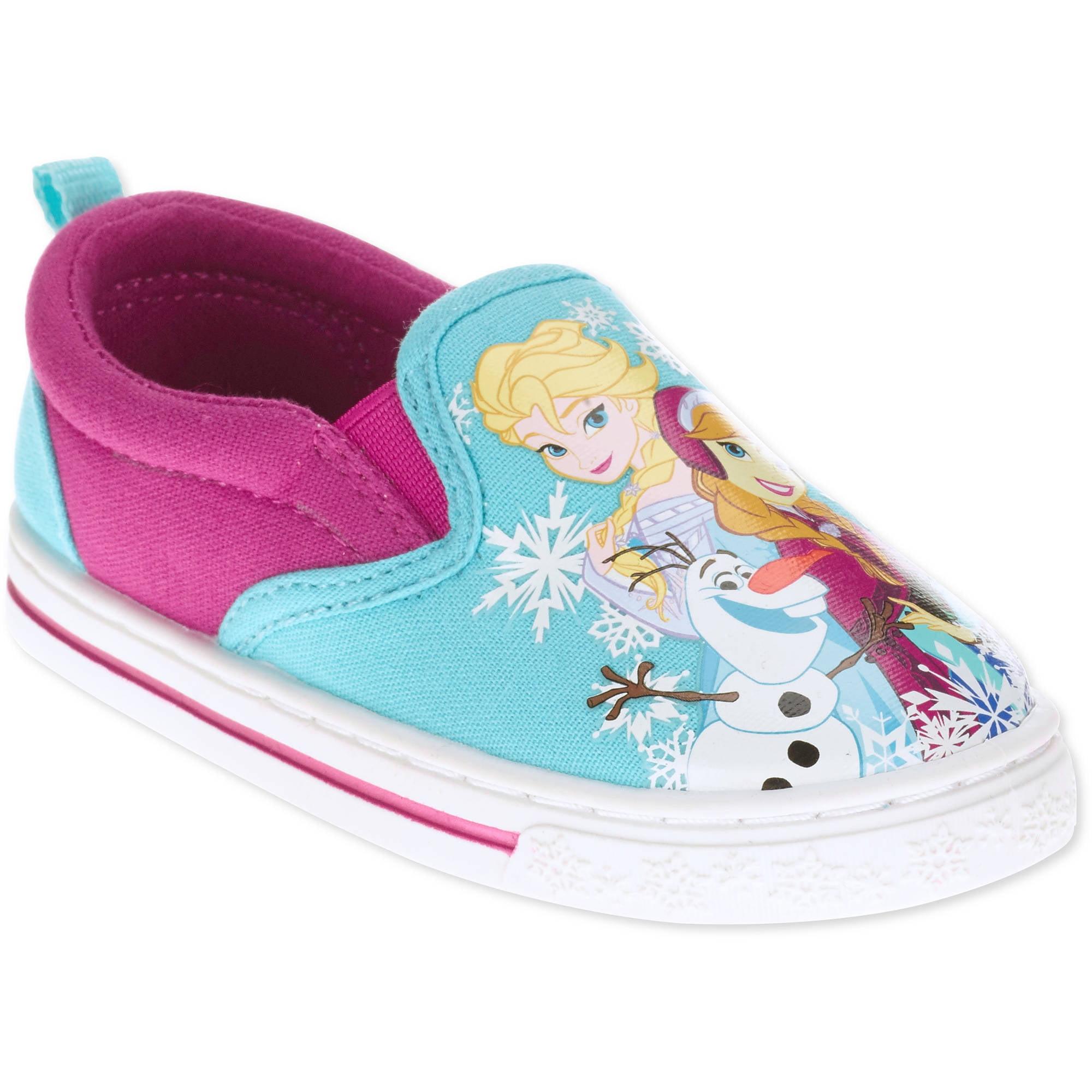 frozen toddler slip on canvas shoe walmart