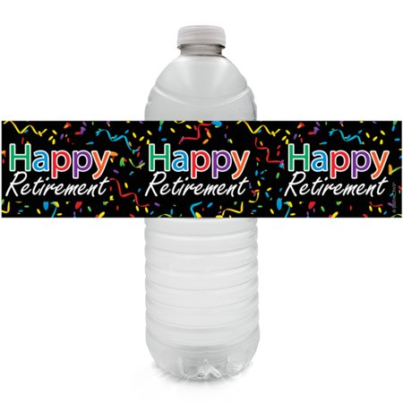 Retirement Water Bottle Stickers | 24ct | Party Favor Decoration Labels](Retirement Party Gifts)
