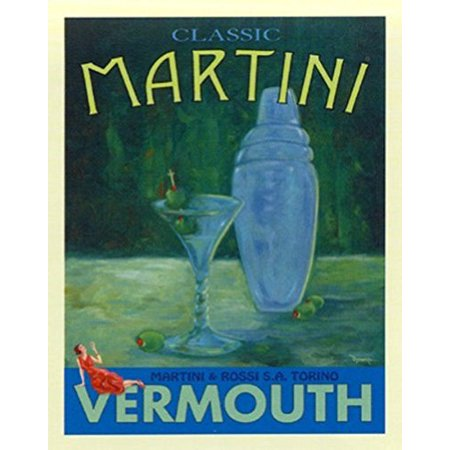Classic Martini by Robert Downs 20x16 Art Print Poster Vodka Martini Cocktail Bar - Halloween Themed Vodka Cocktails