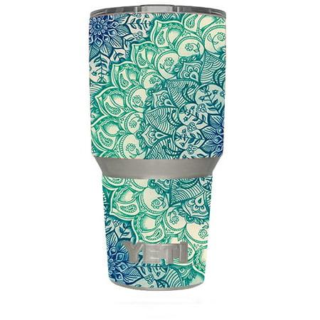 Yeti 30Oz Sticker Decal Set For Your 30 Oz Tumbler / Blue Green Mandala Pattern