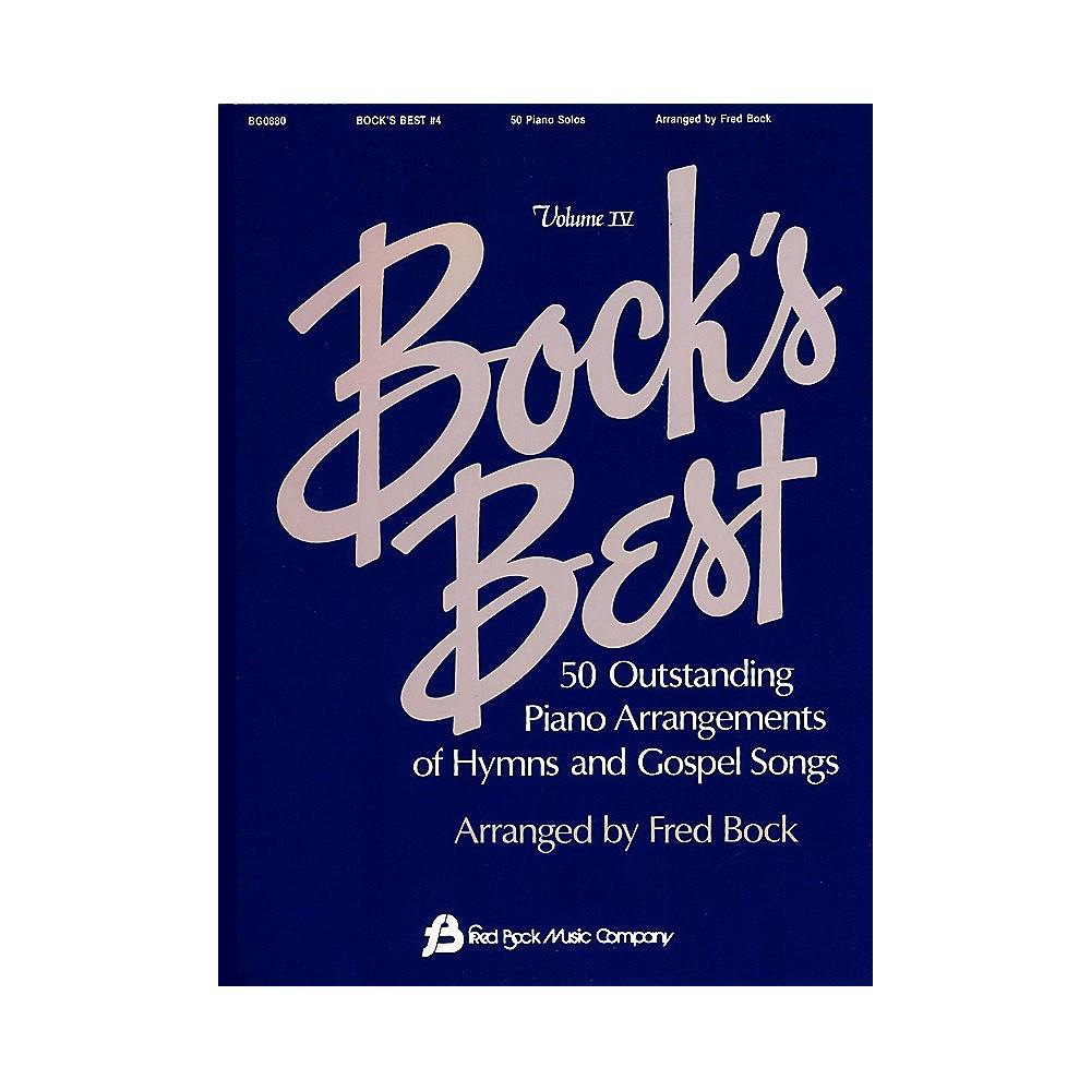 Fred Bock Music Bock's Best - Volume 4 Fred Bock Publications Series