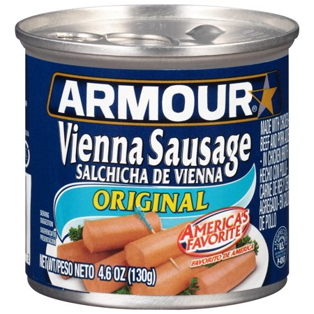 (4 Pack) Armour Original Vienna Sausage, 4.6 oz Can