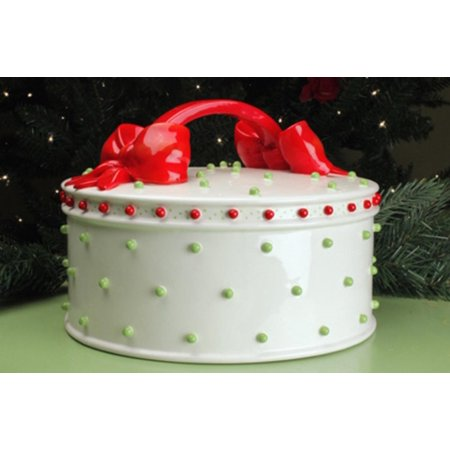 Patience Brewster Krinkles Dressed Up Christmas Cake Plate Dome ...