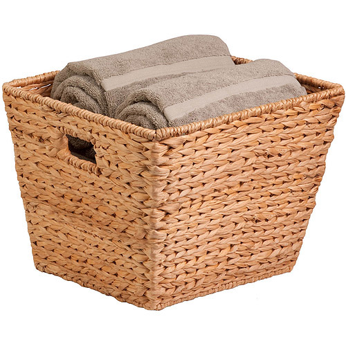 Honey-Can-Do Large Tall Square Banana Leaf Basket