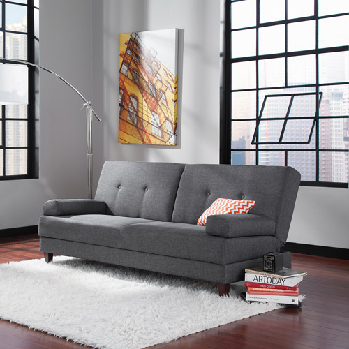 sauder premier carver convertible sofa dark gray