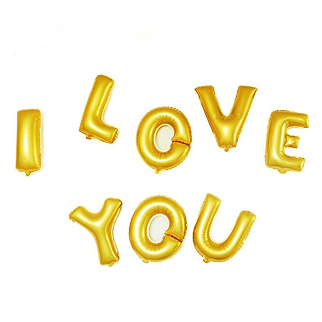Foil I LOVE YOU Balloon Wedding Party Celebration Decor Gold Tone 8 in 1 - image 4 of 4