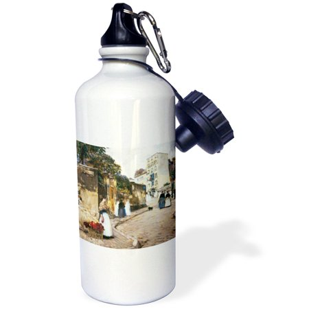 3Drose Rue Montmartre By Childe Hassam  Sports Water Bottle  21Oz