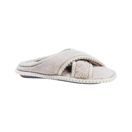 Muk Luks Women's Ada Micro Chenille Criss Cross Slippers](The Glass Slipper Boston)