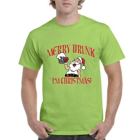 christmas t shirt merry xmas im drunk mens shirts walmartcom - Merry Drunk Im Christmas