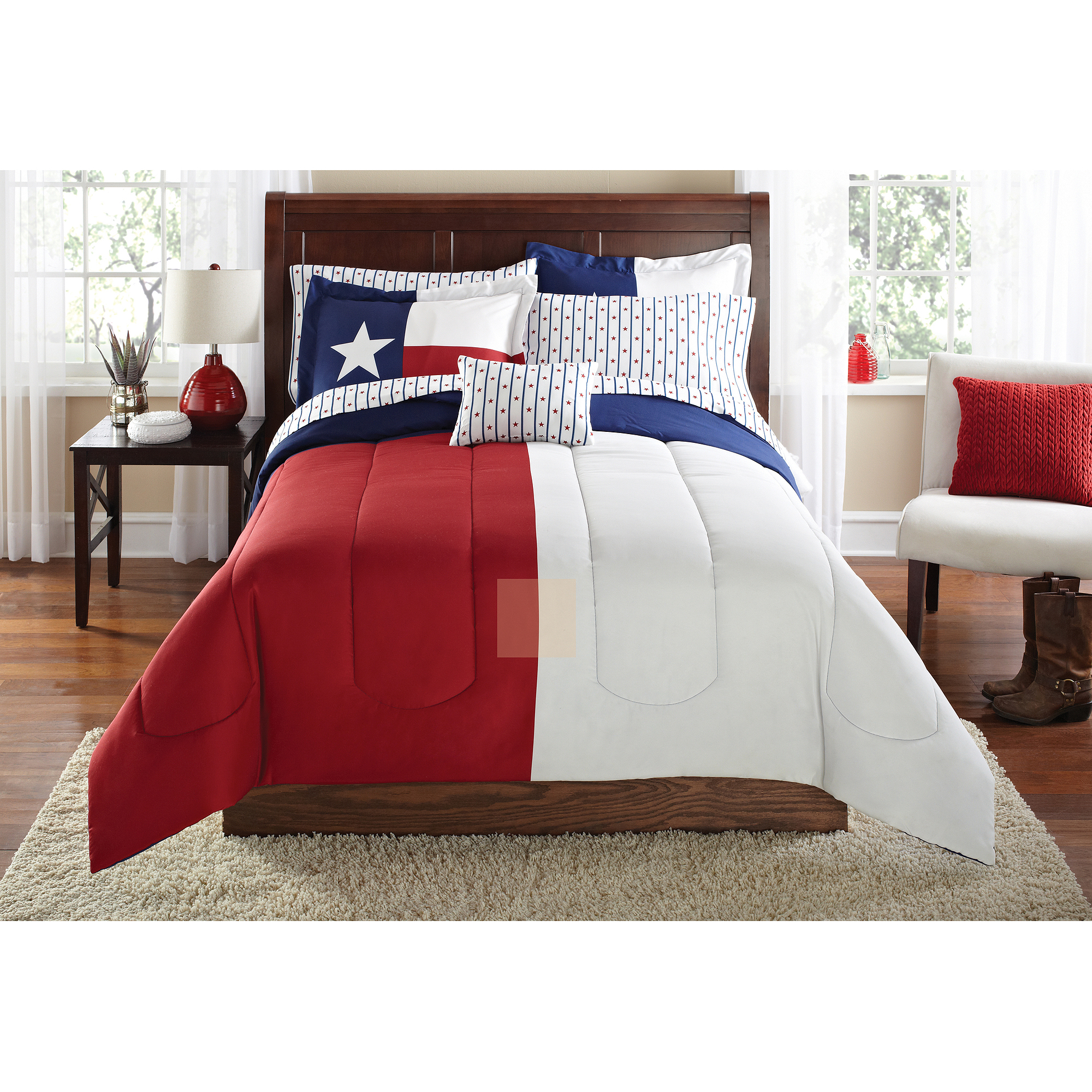 Mainstays Texas Star Bed in a Bag Coordinated Bedding Set