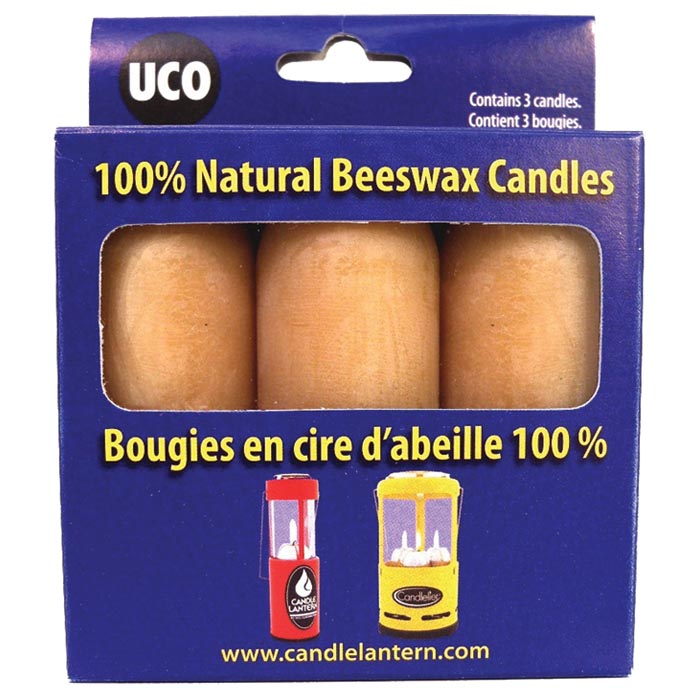 UCO BEESWAX CANDLES 3 PK