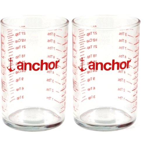 Anchor Hocking 91016l12 5 Oz Glass Measuring Glass (Pack of 2)