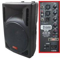 1000 Watt Powered DJ Speaker - 12-inch - Bi-Amp 2-Way Active Speaker System by Adkins Pro Audio - TA12P
