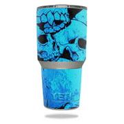 Skin Decal Wrap for YETI 30 oz Rambler Tumbler cover sticker Bio Skull