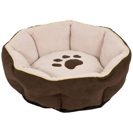 Aspen Pet Rounded Sculptured Dog Bed 18 Diameter - Pack of 4 (Sculptured Round Bed)