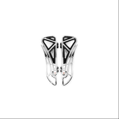 Battistinis Custom Cycles Wireframe Floorboards Front Chrome Fits 98-13 Harley-Davidson FLTR Road Glide